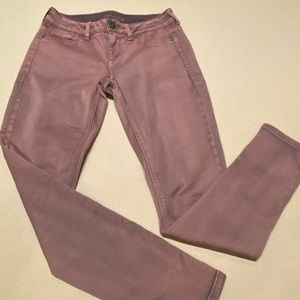 Maurices jeggins. Burgundy/wash. Size Sm-R